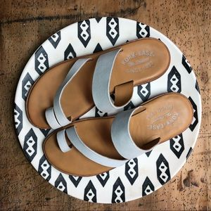 Shoes - White Leather Kork-Ease Slide Sandals